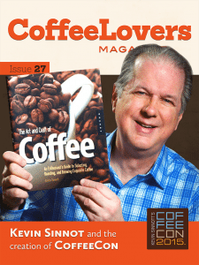 Kevin Sinnott and CoffeeCon - Coffee Lovers Magazine Issue 27