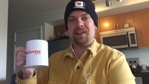 Coffee Lovers Beanie Hat and Mug